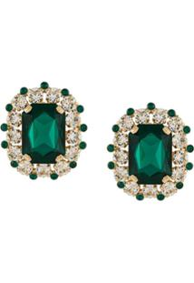 Dolce & Gabbana Rhinestone Embellished Crystal Earring - Dourado