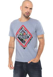 Camiseta Red Nose Estampada Azul