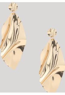 Brinco Feminino Texturizado Dourado