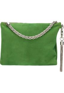 Jimmy Choo Clutch 'Callie' De Camurça - Green