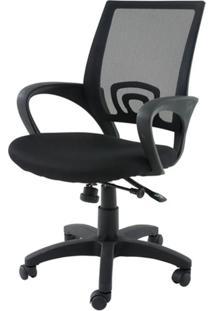 Cadeira Secretaria Santiago Preta C/Rodizio Em Nylon - 21351
