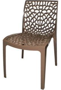 Cadeira Gruver Polipropileno Marrom - 21045 Sun House