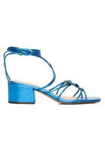 Sandália Feminina Metalcolor - Azul