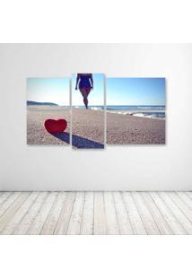 Quadro Decorativo - Love Praia - Composto De 5 Quadros - Multicolorido - Dafiti