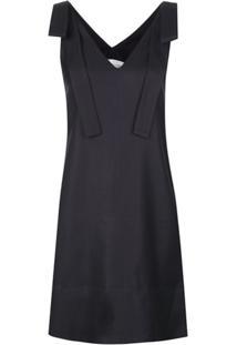 Victoria Victoria Beckham V-Neck Shoulder Strap Shift Dress - Azul