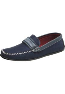 Mocassim Ousy Shoes Docksides Azul