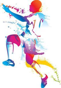 Adesivo De Parede Quartinhos Jogador De Futebol Colorido - Multicolorido/Roxo - Menino - Dafiti