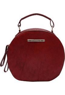 Bolsa Em Couro Com Tag- Vermelha- 16X26X8Cm- Di Di Marlys