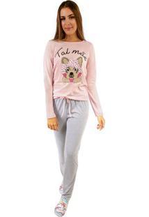 Pijama De Inverno Feminino Com Algodão Adulto