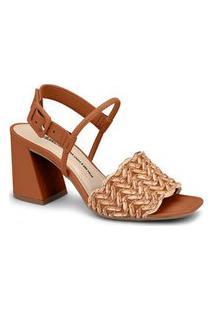 Sandália Dakota Salto Bloco Z7092 Caramelo 1004