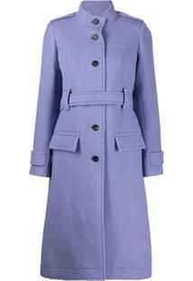 Chloé Belted Single-Breasted Coat - Roxo
