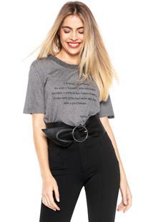 Camiseta Animale Lettering Cinza