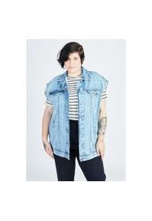 Colete Jeans Gang Plus Size Feminino