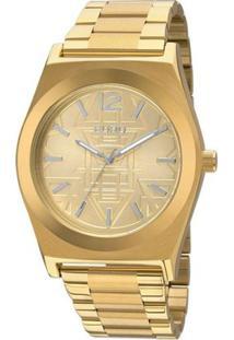 Relógio Feminino Euro Analógico - Unissex-Dourado