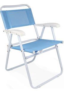 Cadeira Master Aço Fashion Azul Mor