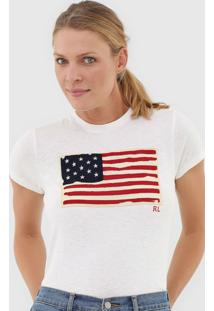Camiseta Polo Ralph Lauren Bandeira Off-White