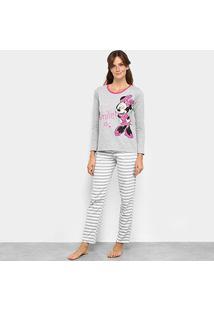 Pijama Evanilda Disney Minnie Feminino - Feminino