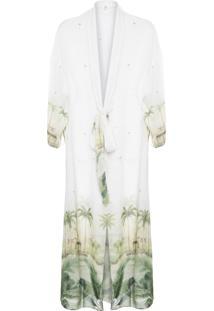 Kimono Feminino Longo - Off White
