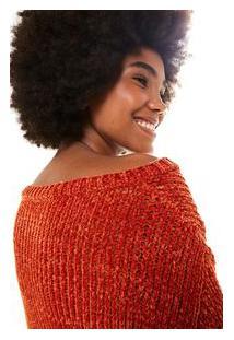 Sweater Tricot Veludo Vermelho Dendê
