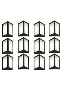 Arandela Triangular Preto Kit Com 12 Casah
