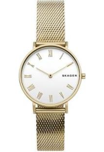 Relógio Skagen Feminino Hald - Skw2713/1Dn Skw2713/1Dn - Feminino-Dourado
