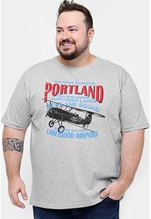 Camiseta Eagle Brasil Portland Plus Size Masculino - Masculino
