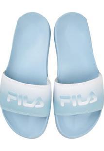 c58e32b34 ... Chinelo Fila Drifter Style - Feminino-Azul Claro+Branco