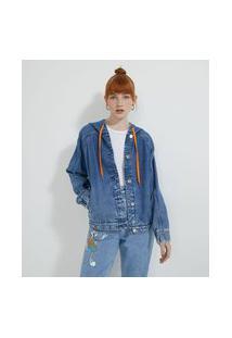 Jaqueta Jeans Com Capuz E Estampa Space Jam Nas Costas | Space Jam | Azul | Gg