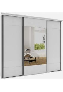 Armario Los Angeles 3 Portas 2,70M C/Espelho Branco - 24571 - Sun House