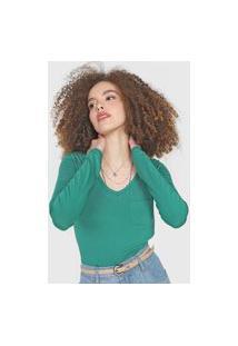 Blusa Lunender Bolso Verde