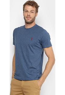 Camiseta Aleatory Básica Masculina - Masculino-Azul Escuro