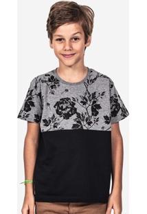Camiseta Hermoso Compadre Meio A Meio Eco Masculina - Masculino-Preto