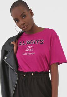 Camiseta Colcci Always Rosa - Rosa - Feminino - Viscose - Dafiti