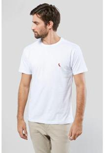 Camiseta Brasa Pica-Pau Bordado Reserva Masculina - Masculino-Branco
