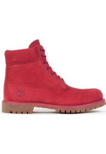 """Bota Timberland Yellow Boot 6"""" Premium Masculina - Masculino-Vermelho"""