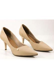 Sapato Bebecê Scarpin Feminino - Feminino-Nude