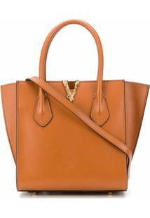 Versace Bolsa Bucket Virtus Média - Marrom