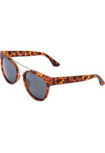 Óculos De Sol Ray Flector Vtg567 Marrom-Preto