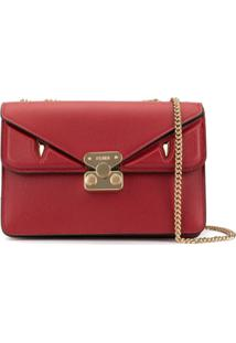 Fendi Medium Bag Bugs Crossbody Bag - Vermelho