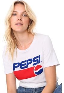 Camiseta Only Reta Pespsi Branca