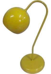 Abajur Para Mesa E Escrivaninha Modelo Bolinha Amarelo