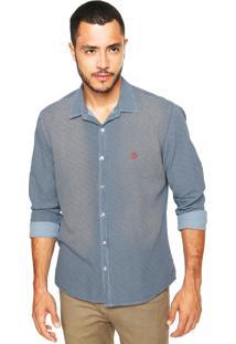 Camisa Mandi Pied Poule Azul