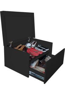 Sapateira Box Baú Caixa Organizadora Para Sapatos - Preto Laca