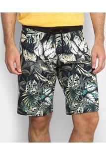 Bermuda Colcci Estampa Tropical Masculina - Masculino