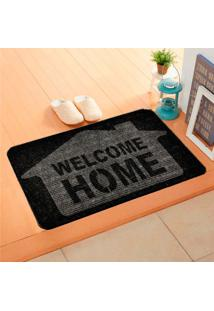 Capacho Carpet Welcome Home Cinza