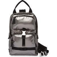 62d7980a4 Prada Technical Fabric Metallic Backpack - Prateado