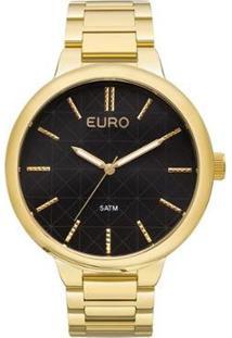 Relógio Euro Metal Trendy Eu2036Lyt/4F - Feminino-Dourado