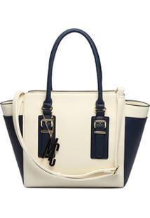 Bolsa Macadamia Bicolor Off White - Feminino-Off White