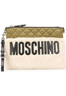 Moschino Clutch Matelassê - Neutro