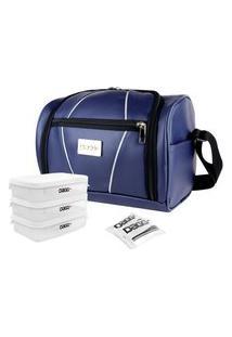 Bolsa Térmica Fitness Couro Azul G - Dagg